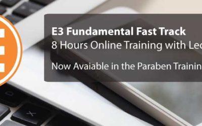 E3 Fundamental Fast Track Course Now Live