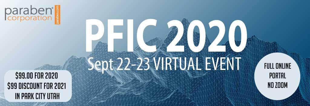 PFIC 2020 Now Virtual Sept 22-23 2020