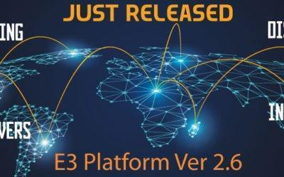 New Version 2.6 Released of E3 Platform